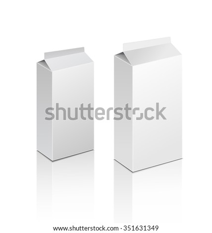 template white box isolated on a white background