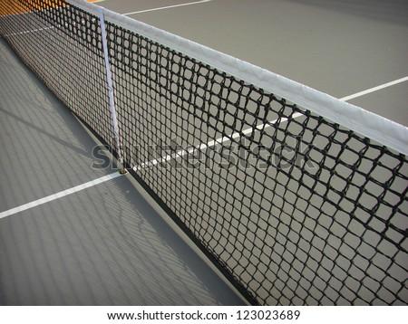 tennis court net - stock photo