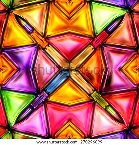 texture of abstract bright shiny colorful geometric shapes - stock photo
