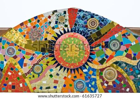 texture of ceramic wall - stock photo