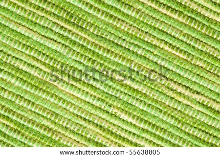 texture of green placemats - stock photo