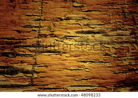 texture of the old damaged pine wood, close-up