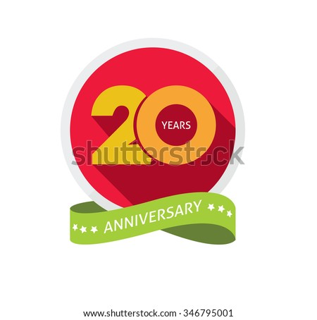 20th Anniversary Logo Template Shadow On Stock Illustration