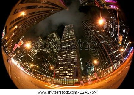 6th avenue - Mnahattan - New York - stock photo