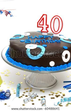 40th Birthday - stock photo