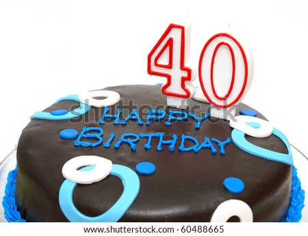 40th Birthday - stock photo