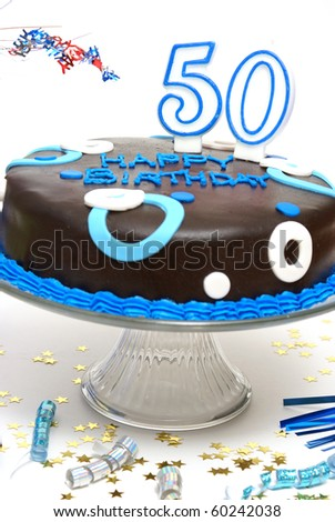 50th Birthday Cake - stock photo