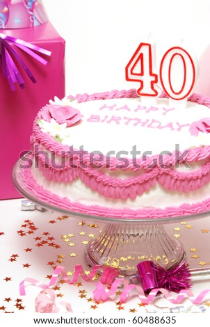 40th Birthday Scene - stock photo