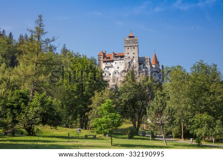 13th century Bran Castle (the Dracula's Castle), a fortress in Transylvania and a national monument in Romania