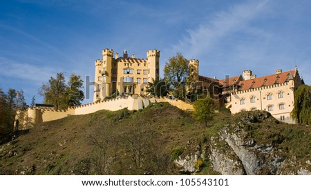 19th century castle of Hohenschwangau in Bavaria, Germany.
