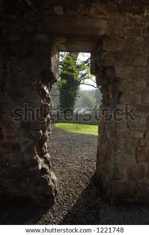 17th Century Doorway, Monkstown, Co. Dublin, Ireland - stock photo