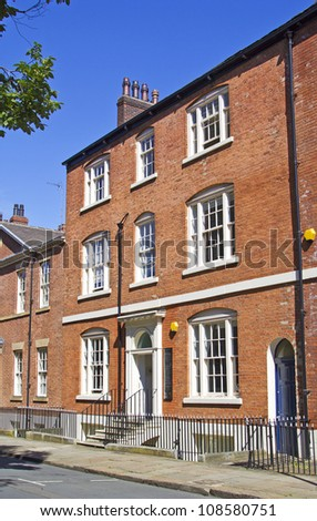 18th century houses on north side of Park Square, Leeds, UK.