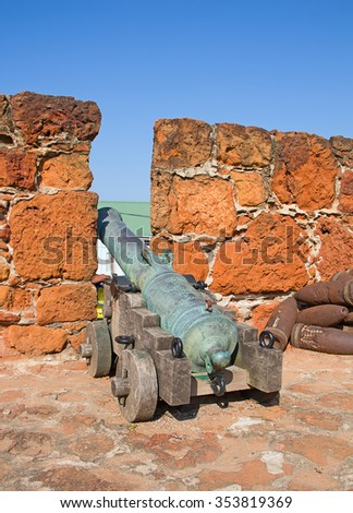 18th century portugese fort in Maputo, Mozambique - stock photo