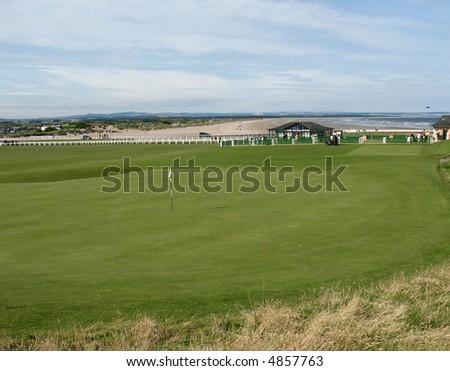 18th hole st andrews scotland - stock photo