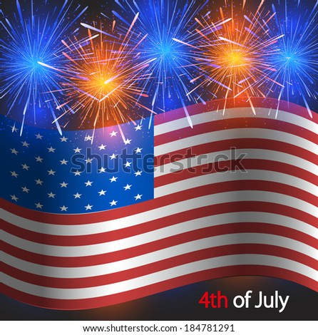 4th of july background. USA Independence Day