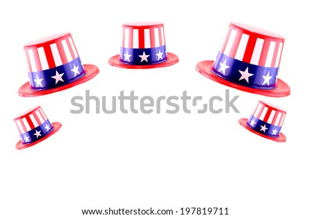 4th of July celebration hat on white background - stock photo