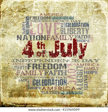 4th of July Happy Independence Day Background - stock photo