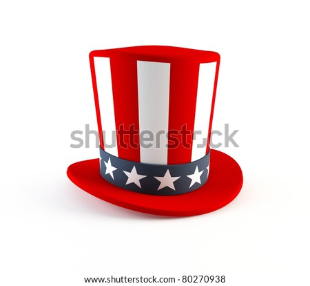 4th of July hat - stock photo