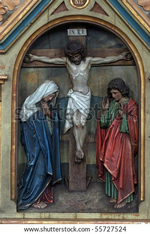 12th Stations of the Cross, Jesus dies on the cross - stock photo