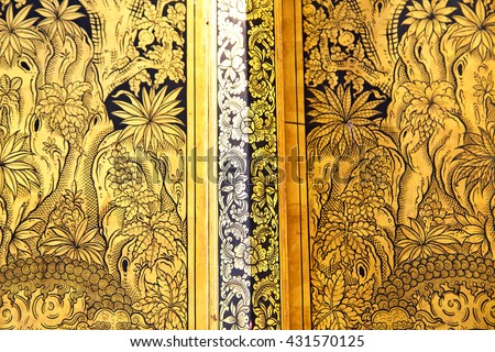 thailand       and  asia   in  bangkok     temple abstract cross colors door wat  palaces   colors religion      gate - stock photo