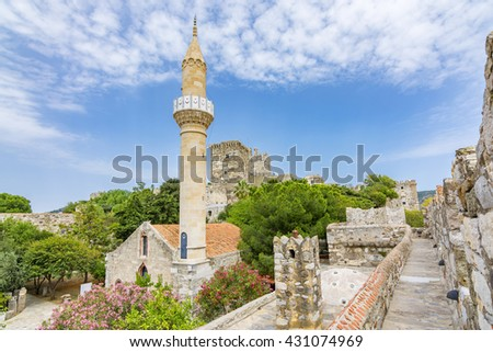 The Bodrum Castle of The Knights of St.John , Turkey - stock photo