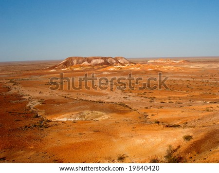 The Breakaways, Coober Pedy, South Australia - stock photo