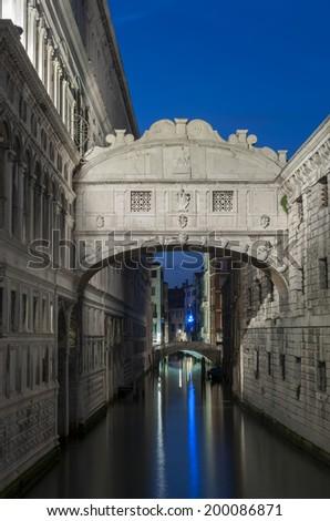 The Bridge of Sighs in Venice, Italy  - stock photo