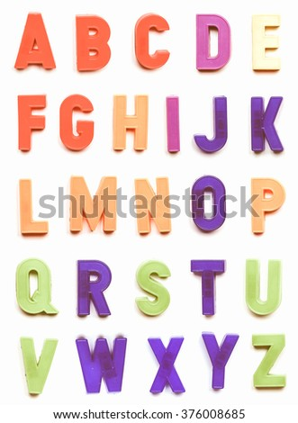 The British alphabet letters plastic toy characters vintage