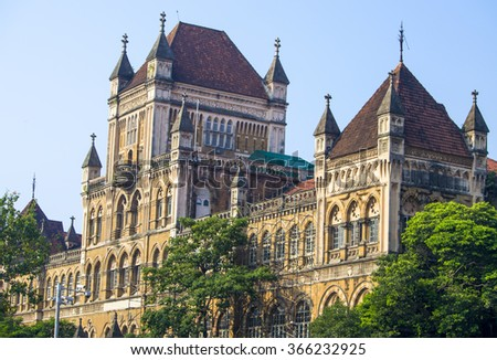 The building and architecture in the city of Mumbai