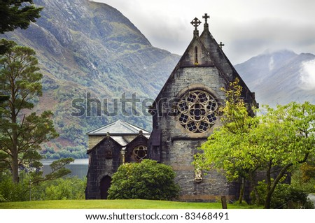 The church of western Scotland - stock photo