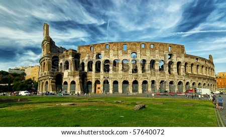 The Colosseum, hdr picture - stock photo