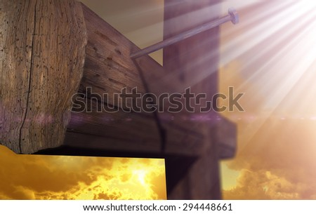 The cross of Golgatha the place of hope - stock photo