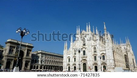 The Dome of Milan, Italy - stock photo