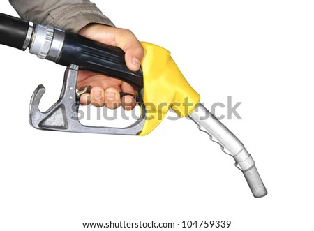 The fuel supply, yellow pump needle