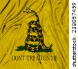 The Gadsden Flag. Don't Tread On Me - stock photo