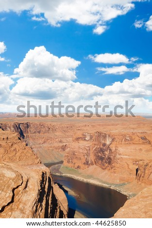The Horseshoe Bend in Page Arizona USA