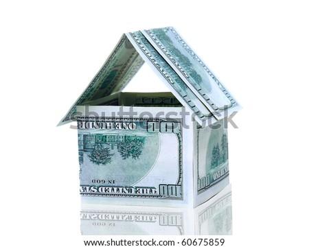 The house of money - stock photo