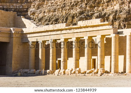 the Memorial Temple of Hatshepsut . Luxor, Egypt, 2012 year - stock photo