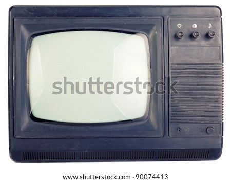 The old TV. - stock photo