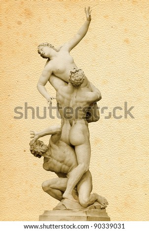 """The Rape of the Sabine Women""  by Giambologna (Loggia in Piazza della Signoria, Florence, Italy)"