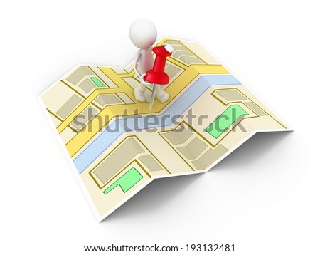 The right Place - stock photo
