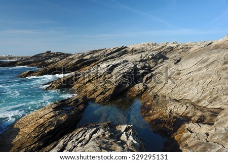 The Savage Coast Of Quiberon   in Brittany