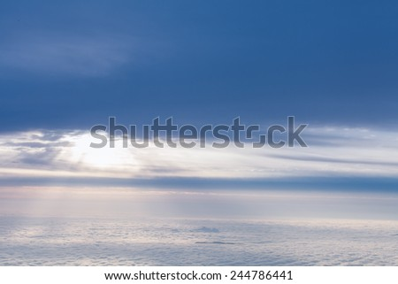 the sea of clouds,Overlooking the clouds and the sun