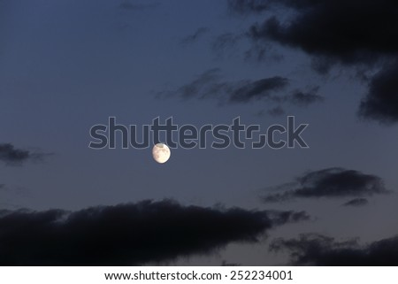 the sky photographed during a sunset - stock photo