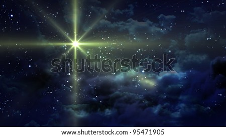 the starry night - stock photo