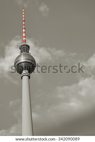 the television tower in the center of Berlin