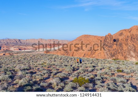 The Valley of Fire State Park , Nevada - stock photo