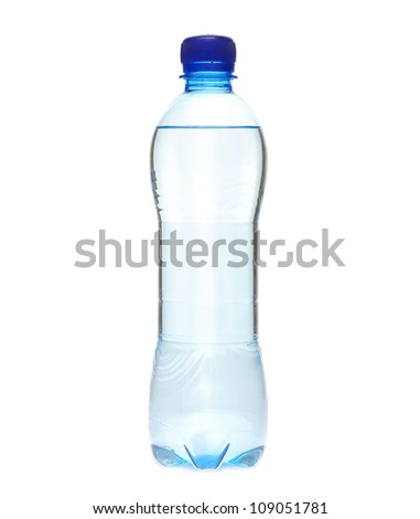 The water in plastic bottle - stock photo