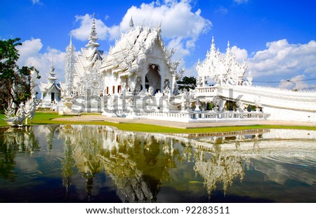 the white temple - stock photo