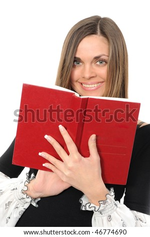 The young girl with long hair and the book